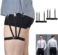 1 pair mens shirt stays garters holder adjustable elastic mens shirt suspender belt