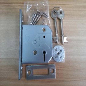 Aluminum Handle 2,3,5 Lever Mortise Dead Lock With 2 Zinc Keys