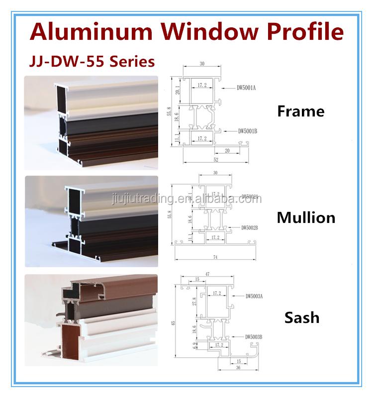 Aluminum Window Details : Aluminum sliding window track materials profile in dubai