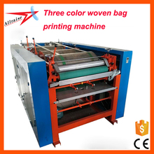 Three color woven bag flexo printing machine