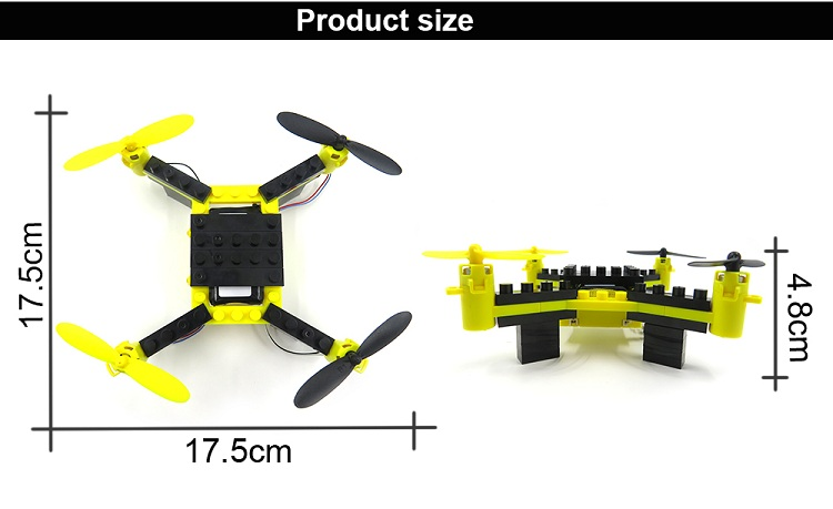 Flytec T11S Wifi FPV Camera Drone 3D flip Headless Mode DIY Building Block Altitude Hold G-sensor Quadcopter