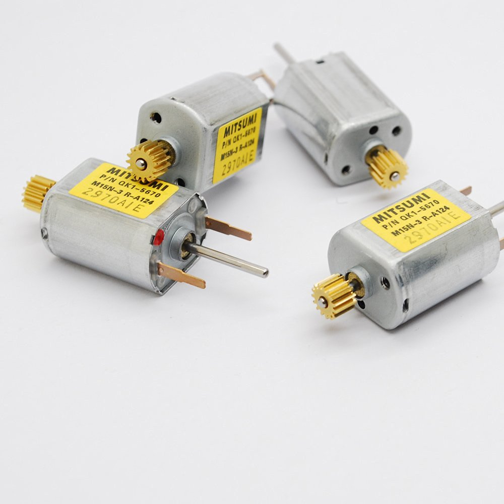 4pcs Mitsumi 030 dc Micro motor 12V 50mA 13100RPM carbon brush copper gear Biaxial