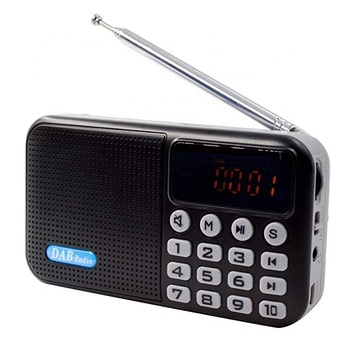 Portable Mini AM FM Radio Clear Speaker Music Player,TF Card Slot, USB Charging Cord, Rechargeable Li-ion battery, Earphone Jack