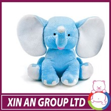 Cute Plush Colorful Elephant Soft Stuffed Wild Animal Toy With Big Ears
