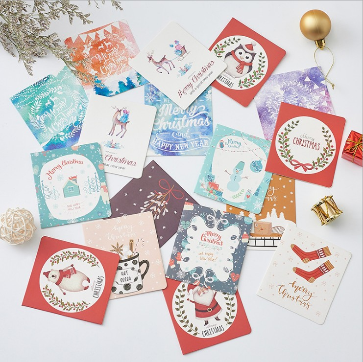 Wholesale Custom Design Printing Paper Craft Christmas Greeting Paper Gift Cards