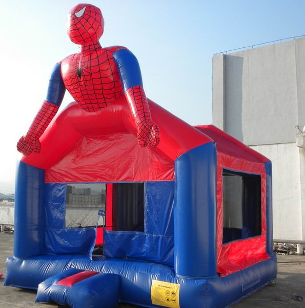 Superman thiết kế bouncers inflatables thoát house for bán W1483
