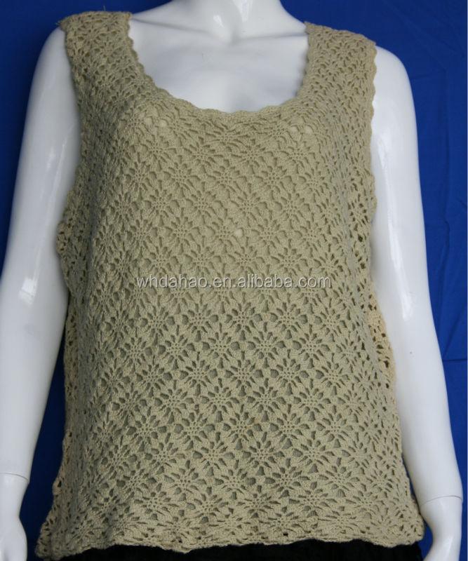 Lady Fashion Design Of Hand Made Sweaters Sleeveless Pattern ...