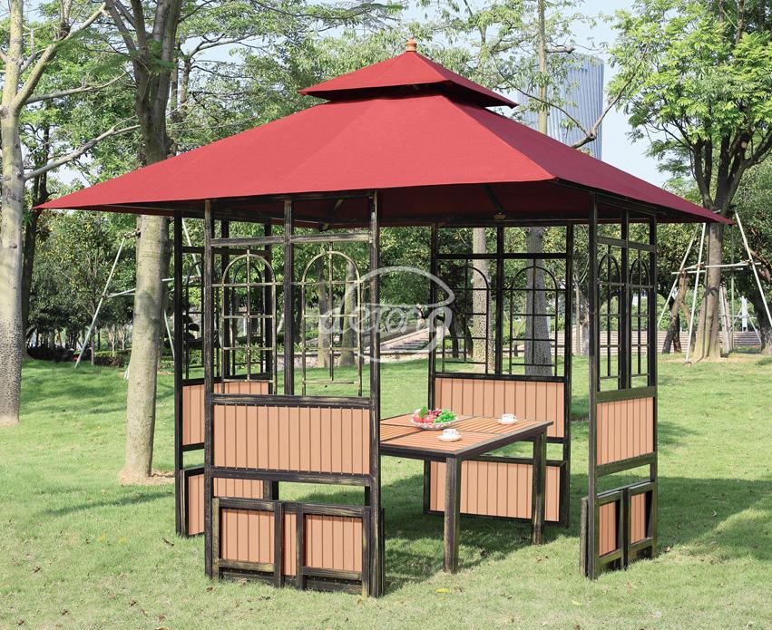 Garden Furniture Gazebo rattan garden pavilion outdoor furniture gazebo wholesale dealer