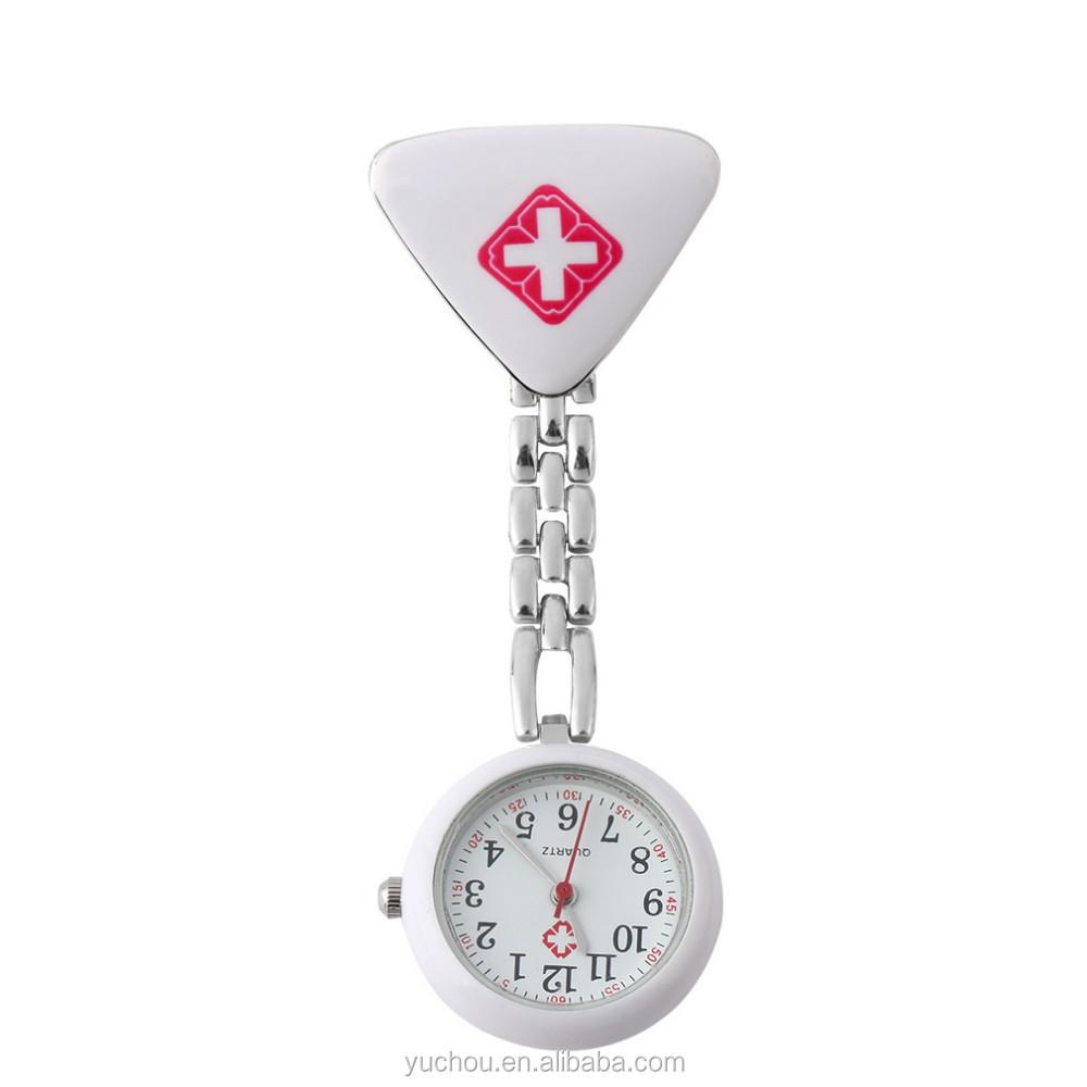 300c61994 Ladies Cross Brooch Pendant Analog Quartz Nurse Pocket Watch ...