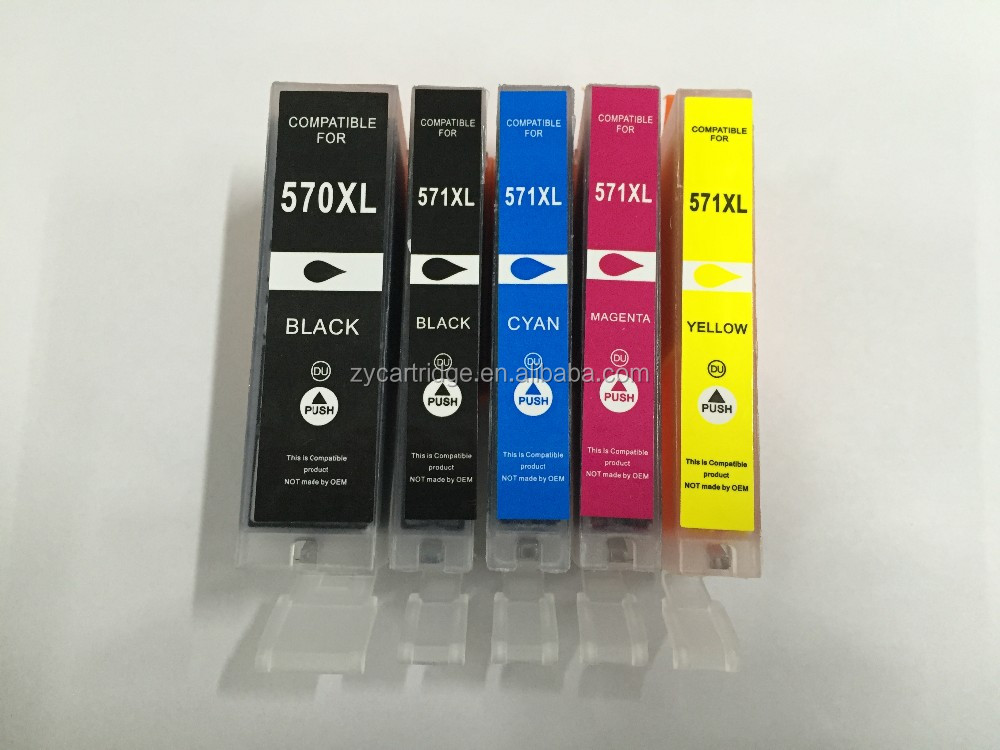 new compatible ink cartridges for pgi570 & cli571 used in MG5750,5751,5752 ,5753 ,6850 ,6851