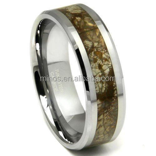 8mm Celtic Tungsten Ring Beveled Edges and Unique Design Ring