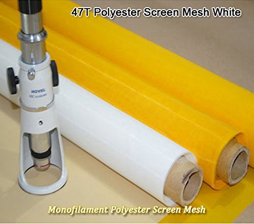 INTBUYING 3 Yards Screen Printing Mesh Fabric 140mesh(56T) Silk Stencil Printing
