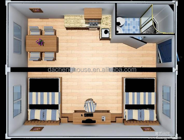 studenten container huizen 2 slaapkamer container huis studentenflat prefab huizen product id. Black Bedroom Furniture Sets. Home Design Ideas