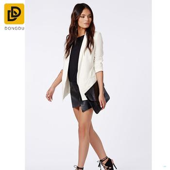Mode Mode Manches Veste Hot Vente Blazer Longues Longues Femmes Détails Doublé pZ5qB0