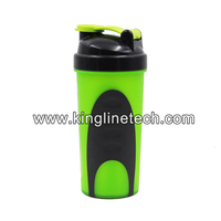Free sample 20oz/600m shaker bottle with stainless mixer ball and rubber cover from alibaba best sellers