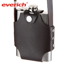 Leak Proof 18/8 Stainless Steel Liquor Hip Flask with Leather