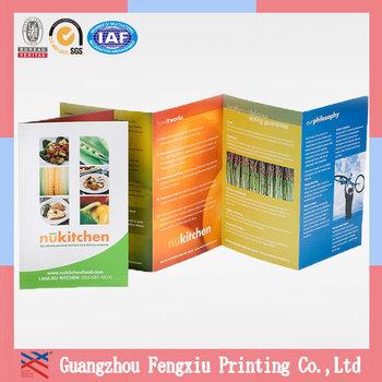 accordion fold brochure template - matte laminate accordion fold cheap brochure printing