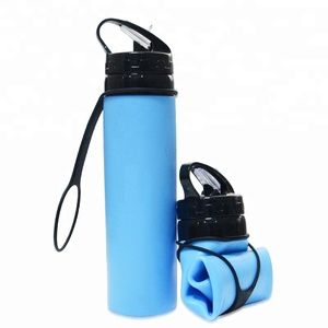 New Items 2018 Private Label Protein Shaker Sport Drink Bottle Silicone Collapsible Water Bottle With Custom Logo