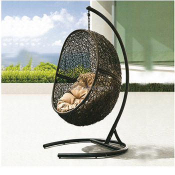 Factory Sale Outdoor Patio Modern Swing Egg Chair Hanging Egg Shaped Chair  HFG 033