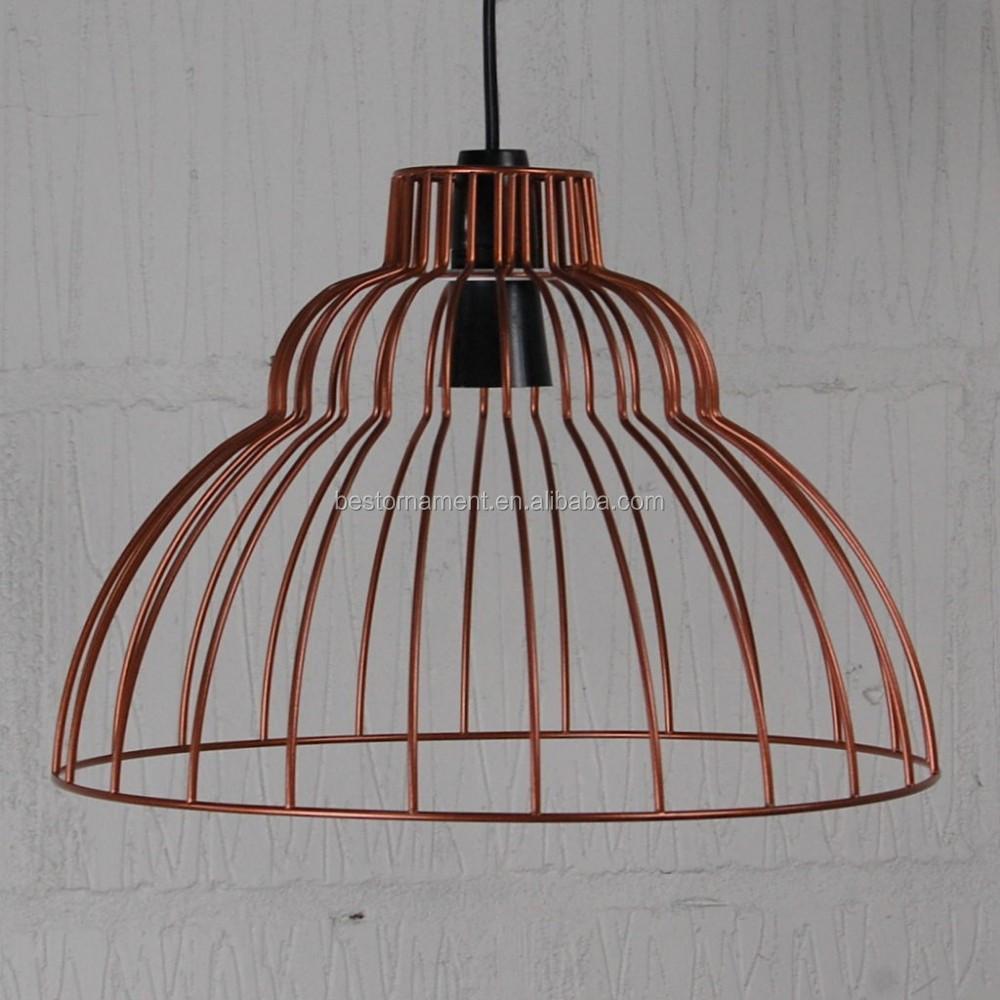 Brunel Industrial Vintage Metal Wire Pendant Light Cafe Bar Cage ...