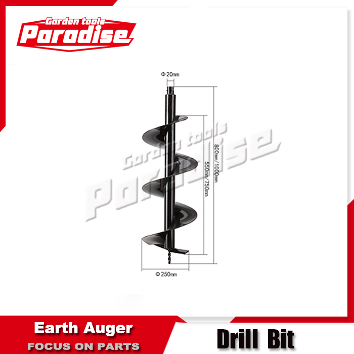 New Earth Auger Drill Bit 250 mm Post Hole Borer Ground Drilling