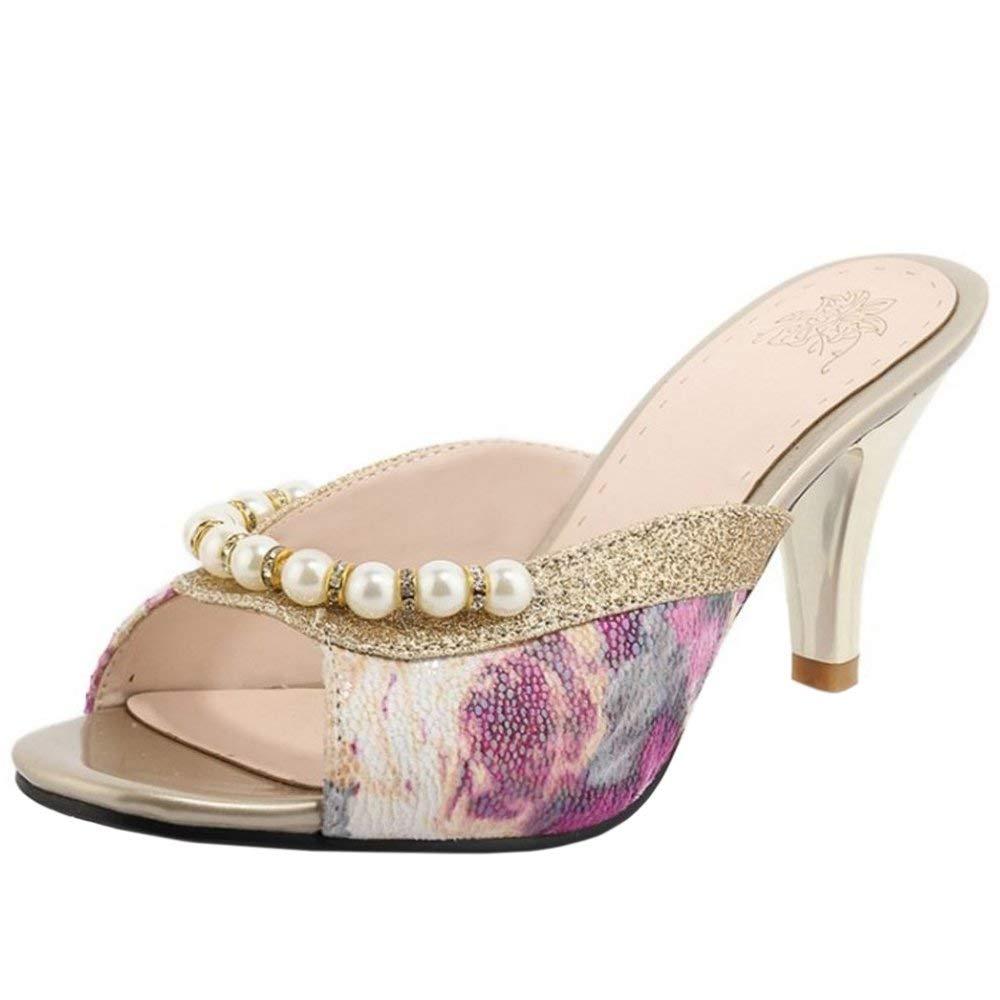 de14b4665efe Get Quotations · Zanpa Women Stiletto Mules Sandals Slip On