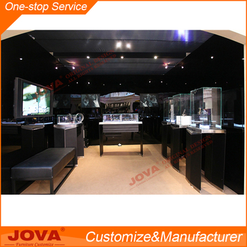 Simple Mobile Phone Shop Interior Design Customized Glass Showcase