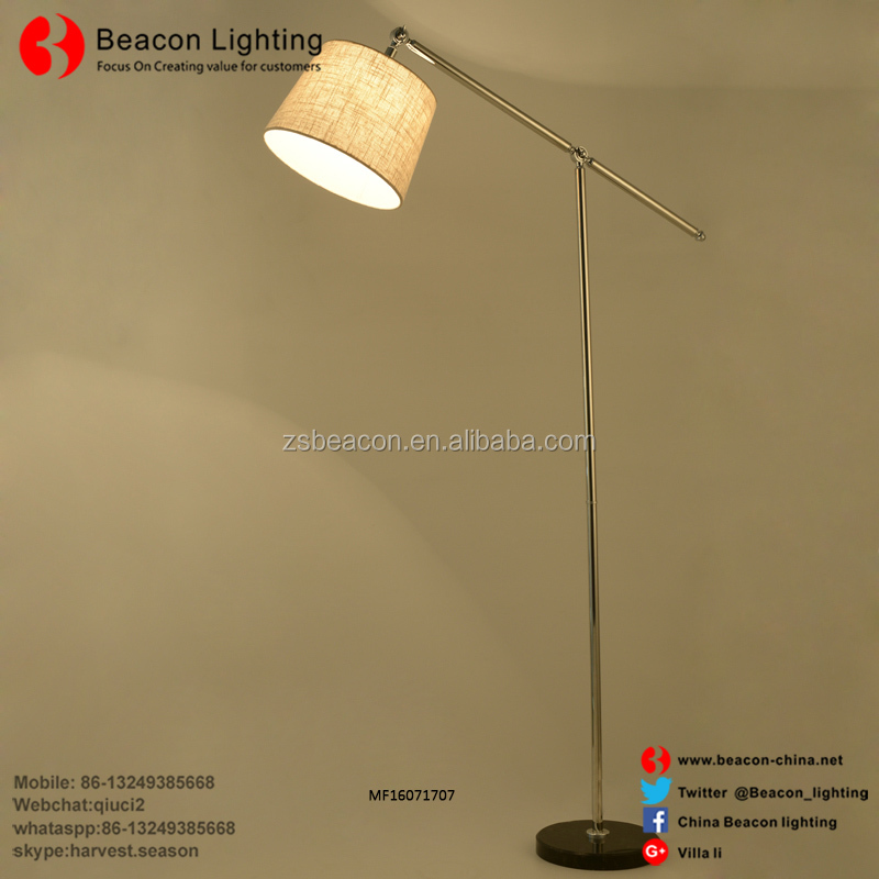 New design customization top quality stainless steel rocker floor lamp table lamp wall lamp series with fabric for hotel room