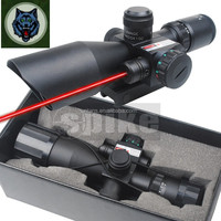 SPIKE Tactical Rifle Scope with Red Laser Sight 2.5~10X 40mm Scope Reflex Red / Green Reticle Mount