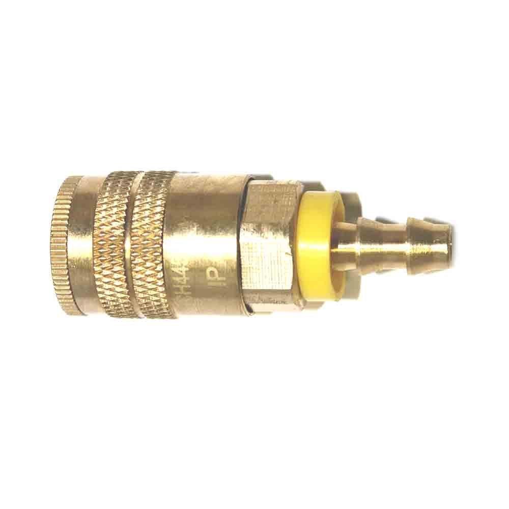 "Interstate Pneumatics CH445B 1/4"" Industrial Coupler 1/4"" Easy-Lock (Brass)"