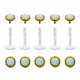 Gold Plated Push In Top Bioplast Lip Piercing Labret With Opal