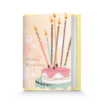 Wholesale Happy Birthday Handmade Greeting Card 3d Birthday Card