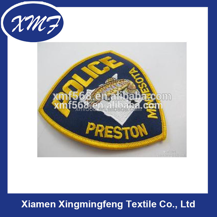 embroidered badge for police militry badges