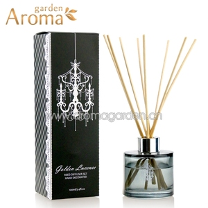100ml Essential Oil Reed Diffuser With Black Glass Bottle