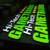 high density China acrylic and mirror stainless steel 3d led sign frontlit lettering manufacturer