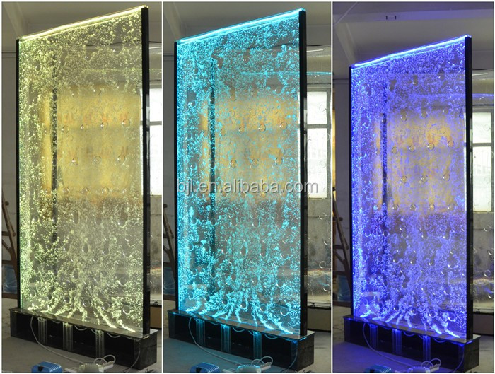 Restaurant indian style decorative led water bubble wall