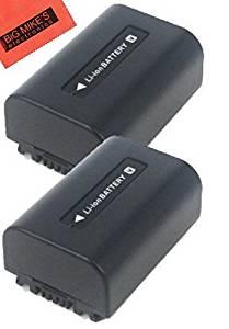 BM Premium 2-Pack of NP-FV50 Batteries for Sony FDR-AX53, HDR-CX675/B, HDR-CX455/B, HDR-CX190, HDR-CX200, HDR-CX210, FDR-AX33, HDR-PJ670 Handycam Camcorder