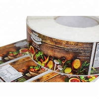 Custom Waterproof Adhesive Canned Food Sticker Label Printing