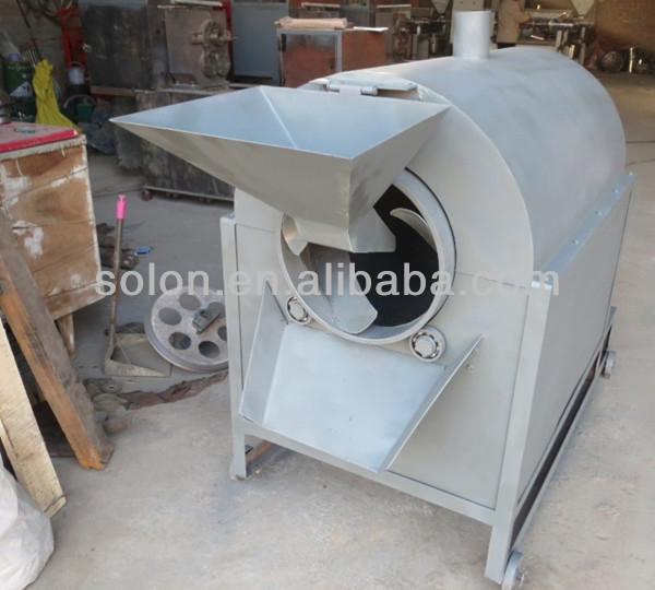 high quality chestnut roaster machine/hot sale gas electric peanut roaster/cocoa bean roaster machines
