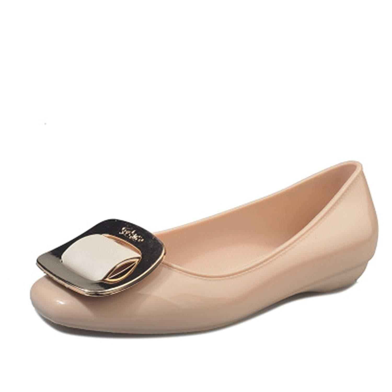ffcb47680 Get Quotations · MIKA HOM Women's Jelly Platform Wedge Heel Sandals Low Top  Shoes Rain Shoes