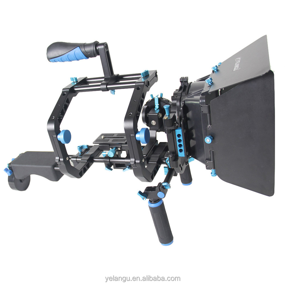 Video Camera dslr Shoulder Mount Kit DSLR RIG With Follow Focus With Matt Box