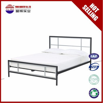 bedroom furniture modern metal bed frame wrought iron twin bed double bed frames for sale - Modern Metal Bed Frame