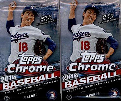 2 (Two) Packs - 2016 Topps Chrome Baseball Hobby Packs (4 Cards per Pack)