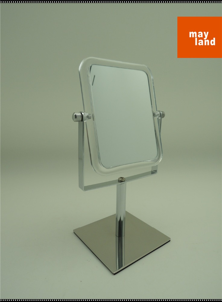 Bathroom MINI standing Mirror with Acrylic Frame stainless steel base, K/D design