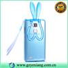 Sky Blue Clear TPU Gel Rabbit Ear Case For Huawei Honor 6 Plus Back Cover