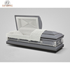 Popular noble design modern American style 20 gauge steel adult coffin