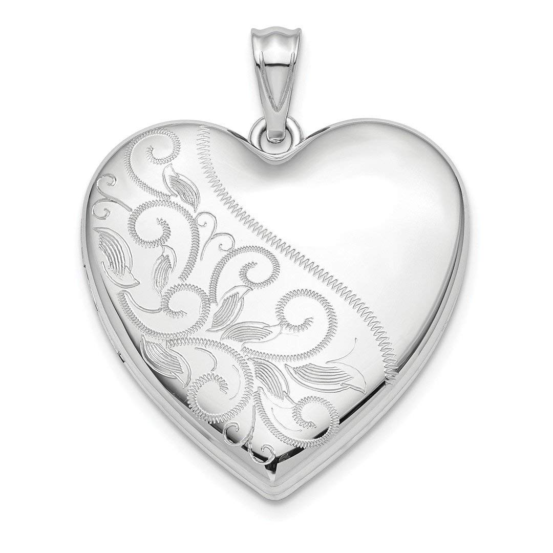 925 Sterling Silver 24mm Enameled Rose Ash Holder Heart Photo Pendant Charm Locket Chain Necklace That Holds Pictures Fine Jewelry Gifts For Women For Her