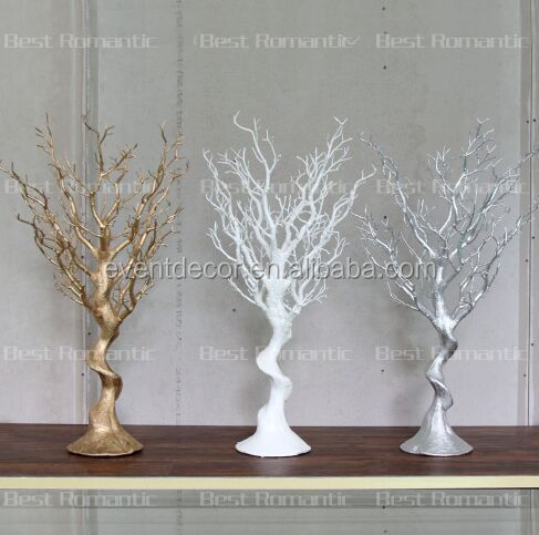 Gold Plastic Tree Centerpiece For Decoration Beautiful