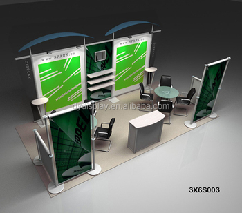 Exhibition Booth Table : Portable round podium table counter stand trade show display