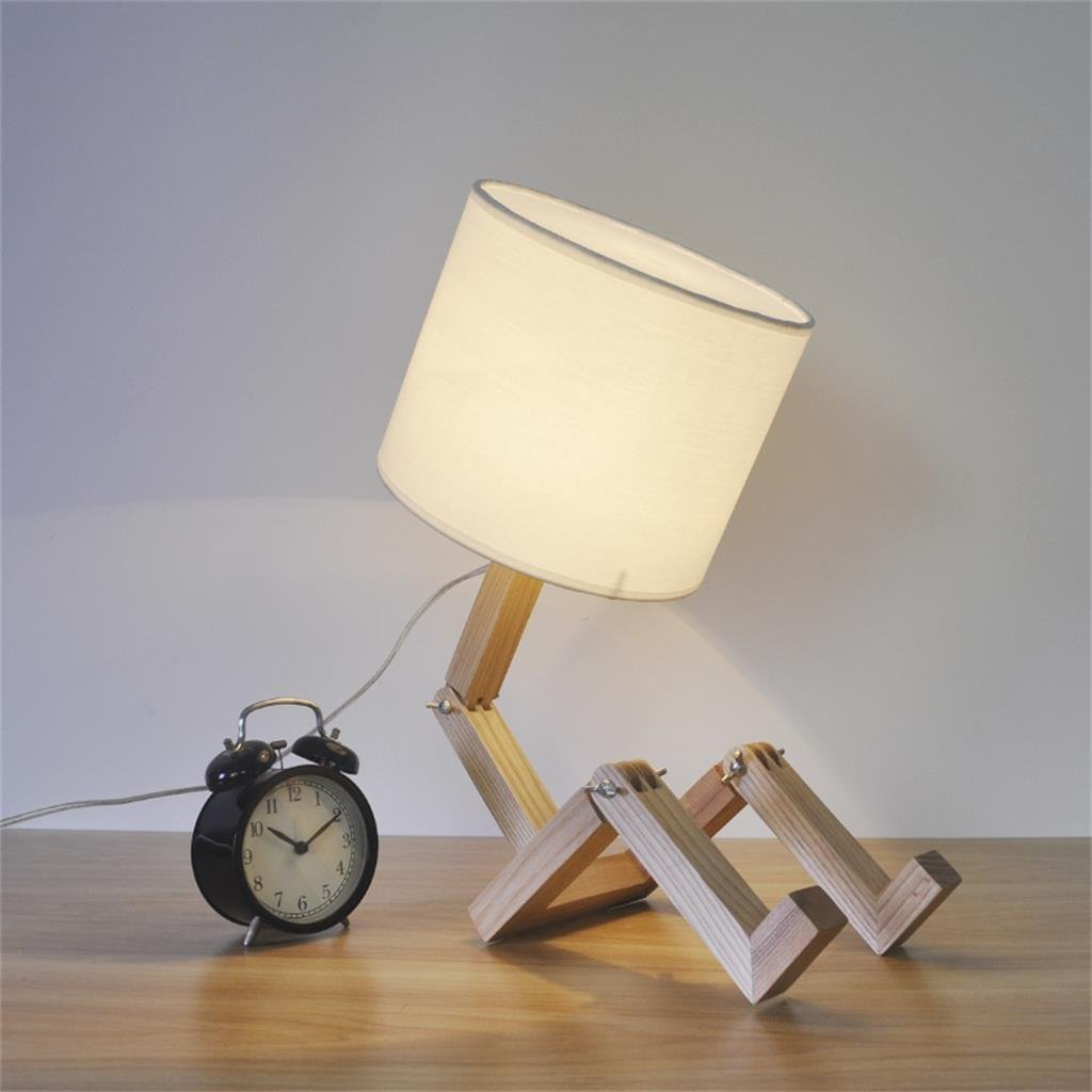 WENBO HOME- Creative Simple Solid Wood Table Lamp Children 's Room Living Room Decorative Lights -Desktop lamp